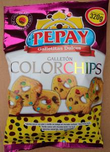 Con Confites de Chocolate Multicolores