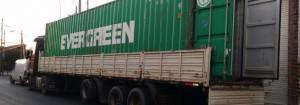 recorte carga fe contenedor camion de costado